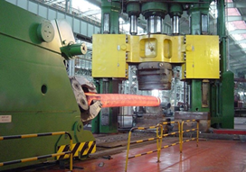 High speed hydraulic forging machine
